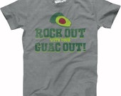 Mens Rock Out With Your Guac Out HEATHER GRAY T-Shirt tacos are my life, i love tacos, taco Tuesday shirt S-5XL