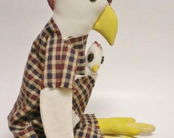Primitive Chicken Doll, Chickens, Primitive Animals, Americana Decor, Primitive Dolls, Country Farmhouse Decor