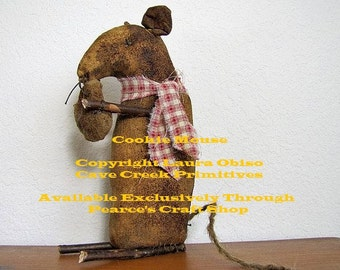 Extreme Primitive Cookie Mouse Pattern, Twig Mouse Patterns, Primitive Mice Patterns, Mouse EPatterns