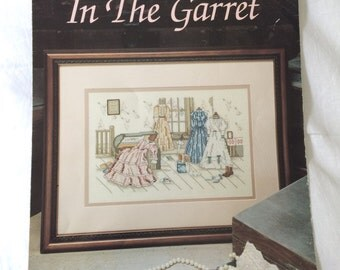 In the Garret Counted Cross Stitch Pattern by Paula Vaughan, Book 33