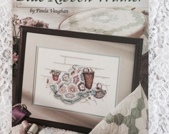 Blue Ribbon Winner by Paula Vaughan, Counted Cross Stitch Pattern Chart, Leisure Arts Leaftlet 649
