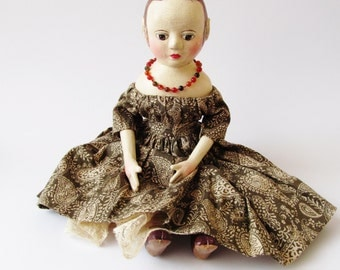 Mary an Izannah Walker Inspired Artist Doll Autumn Shades