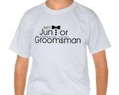 Junior Groomsman Gift, Junior Groomsman Shirt, Wedding Tuxedo Shirt