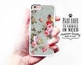 Floral iPhone Case / Floral iPhone 6 Case Floral iPhone 6S Case iPhone 4 Case 4S 5S Pastel iPhone 5 Case iPhone 5C Case 6 Plus Pastel Floral