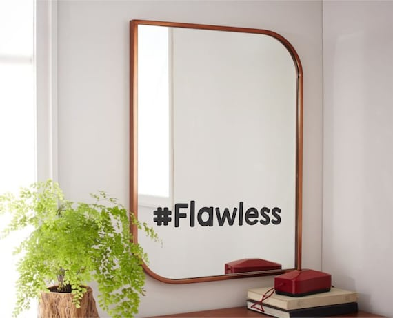 mirror stickers bathroom flawless mirror decal flawless bathroom mirror decal custom 13675