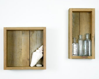 Reclaimed Wood Shadow Box / Shelf / Display Shelf / Display Shelves