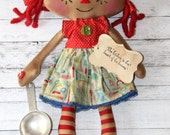 Kitchen Mini Emma Anne - Primitive Raggedy Ann Doll (HAFAIR)