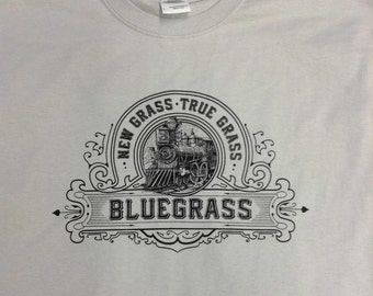 New True Bluegrass T-shirt - All Sizes - 10 Color  Choices