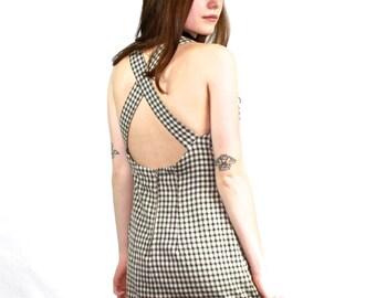 90s Green Plaid Dress