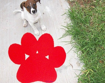 Paw floor mat. Mat playroom for kids or pets. Paw patrol home room decor for children