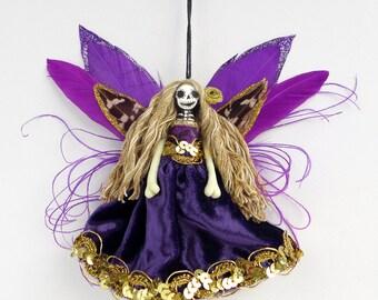 Fairy decoration, Catrina, Day of the Dead ornament, handmade unique decor, Day of the Dead, gift