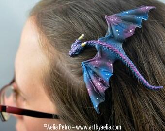 Custom Made Realistic Baby Galaxy Dragon Hair Clip - PRE-ORDER