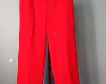 Red Trousers / Vtg 90s / Harve Benard Red Trouser / Red Dress Pants / Flat front dress pants