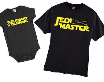 Jedi in Training and Jedi Master father son shirt - perfect for Father's Day!