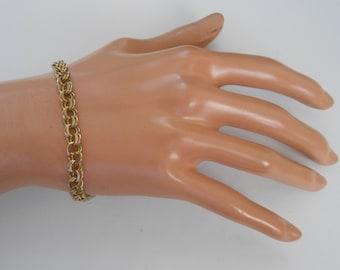 Vintage 10K Solid Gold link chain Bracelet 8 Grams