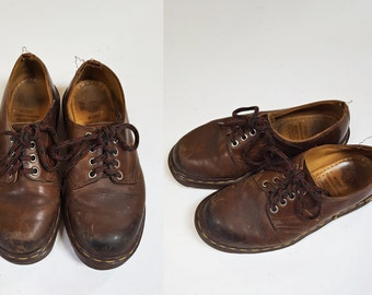 1980s Brown Dr. Marten Low Rise Lace Up Oxford Shoes - Boots / Mens 4 Womens 6