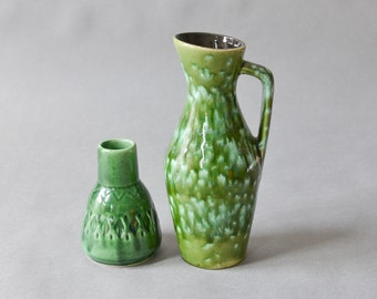 Vintage Scheurich Bay vase collection green 274-27 538-11 Mid-Century