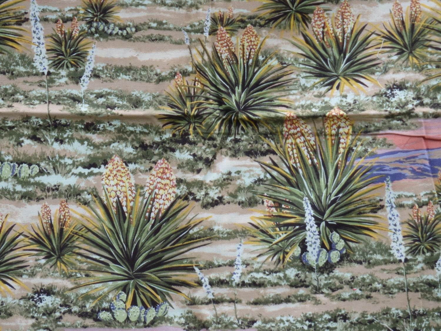 "The State Flowers Yucca by Suzan Ellis for Northcott 44"" x 24"""