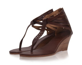 MIDSUMMER. Leather sandals / women shoes / leather shoes /