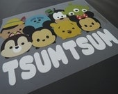 Tsum Tsum Iron On Transfer - Iron on Vinyl Sheets Heat Transfer Sheet Cute Cartoon Disney TsumTsum DIY Shirt Iron-on