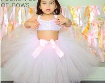 Light Pink Tutu Skirt Blush Newborn Toddler Girls Sizes