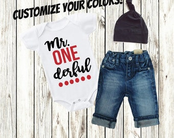 One Year Old Boy Clothing, Clothes, Birthday Shirt, 1st Birthday Outfit Boy, Second Birthday Boy, Boy Gift, One Shirt,One Derful -SHIRT ONLY