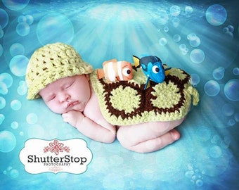 Turtle Set, Newborn Turtle, Turtle Cape, Turtle Cape Set