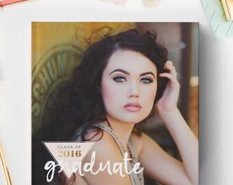 Senior Photo Book Cover Template, Senior Album Template, Senior Template, Senior Book Templates, Senior Album Templates BC131