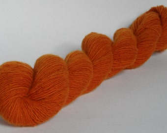 Burnt Orange Wool Lace Yarn Mini Skein 20g