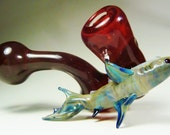 Blood in the Water /// A great white shark on a blood red sherlock ///A