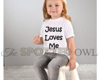toddler shirt / kids shirt / baby shirt / graphic tee / toddler tee/ tshirt / kids fashion/ Christian/ Jesus Loves Me