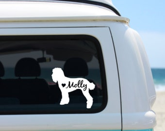 Poodle decal | Personalized Poodle  Decal | Car Decal |  Laptop Decal | Window Decal | iPad Decal | Notebook Decal | Vinyl