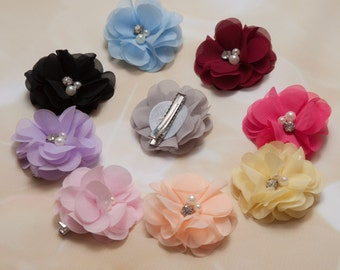 Beautiful Tiny Little Clips Infant Toddler Flower Clips