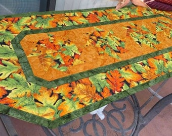 Quilted Autumn Table Runner Quilt Shades of the Season 347