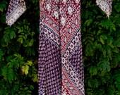 40 BUCKS Hippie Dress India Handblock Gauzy Cotton Goddess Angel Sleeves Long Festival Boho