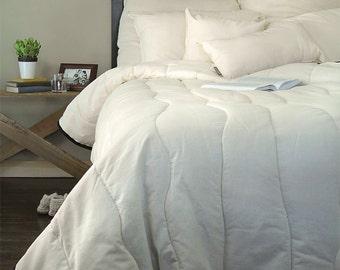 Wool Comforter // King Comforter // Organic Comforter // Natural Comforter // Wool Bedspread // Organic Bedding // Organic Duvet