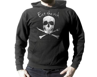 Hoodie - Eat The Rich Shirt - Retro hoodies For Men, Women & Children