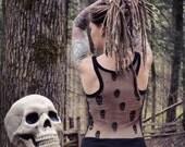 Reaper Tank Top, LIMITED EDITION, Tank Top, Racer Back Tank, Bamboo, Organic Clothing, Skulls