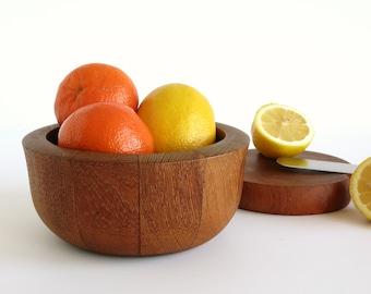 Vintage Dansk Teak Salad Bowl - Small Dansk Staved Teak Salad Bowl - Jens Quistgaard Design - Dansk International Teak - Small Serving Bowl