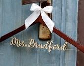 Rustic Wedding Hanger, Wedding Dress Hanger,  Personalized Bride Bridesmaid Wood Name Hanger, Custom Wedding Bridal Hanger,Shower Gift LL017
