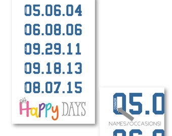 Oh Happy Days - 11x17 Playroom Print - Customizable