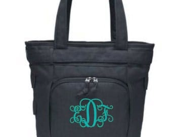 Monogrammed Gifts, Laptop Bags, Ladies Monogrammed Totes, Work Tote, Tote Bag, Personalized Tote, Christmas Gift, Christmas Gifts for Mom