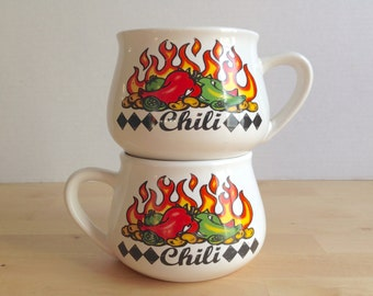 Pair of Two Vintage Chili Bowls - Houston Harvest Gift Products LLC