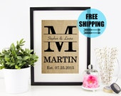 ON SALE! Personalized Wedding Gift for Couple | Bridal Shower Gift | Rustic Wedding Decor | Engagement Gift | Personalized Gift for Wife