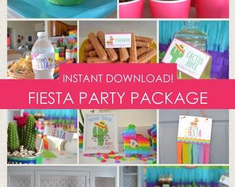 Fiesta Party Package // Cinco de Mayo // Instant Download // Printable PDF