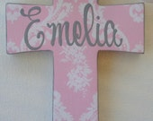 Hand painted personalized childs 6 inch wooden cross childs cross childs baptism
