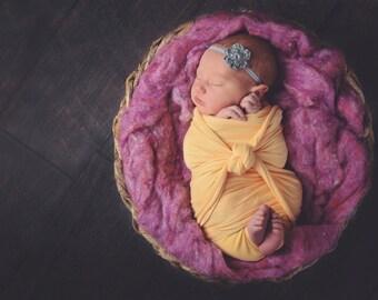 Gray Baby Headband Newborn Baby Girl Headband Newborn Headband Crochet Flower Headband Photo Prop Photography Prop Baby Shower Gift