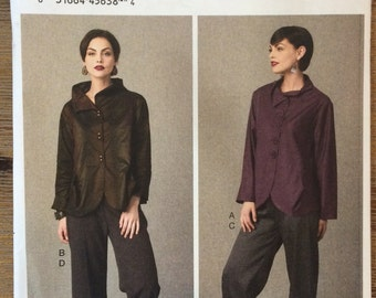 UNCUT Jacket and Pants Pattern Vogue 9035 Designer Marcy Tilton Size 6-8-10-12-14-16-18-20-22