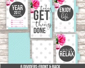Personal planner QUOTES DIVIDERS • Filofax personal size • DIGITAL printable