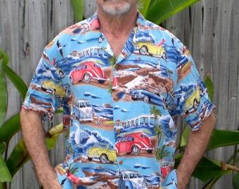 VINTAGE CARS aloha shirt